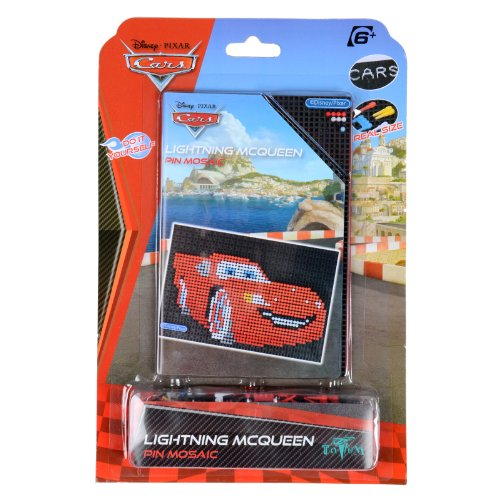 New Kids Disney Pixar Cars Lightning McQueen Pin Mosaic Suitable For Ages 6+