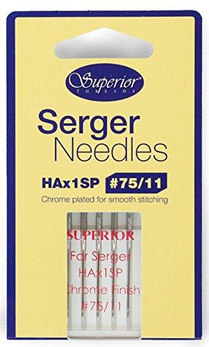 verchromt Nähmaschinennadeln–Superior Organ hax1sp Größe 75/11Overlock/Overlock-Maschine Nadeln (chrom)