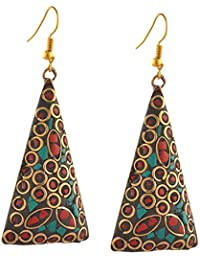 Apnaa Jewellery Lightweight Tibetan Hook Dangler Earrings