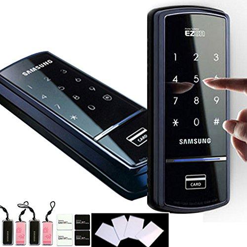 Preisvergleich Produktbild SHS SAMSUNG, 1321 Digitales Türschloss mit touchpad schlüsselloses Sicherheit EZON 4 Karten) (RFID, mit 4 Schlüssel Anhänger mit 4 Sticky Schlüsselanhängern