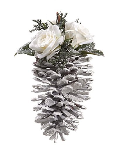 allstate-snow-drift-glittered-pine-cone-with-rose-christmas-ornament-75-by-allstate