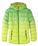 Krumba Mädchen Reißverschluss Vorne Wasserdicht Kapuze Puffer Jacke Grün Größe 140