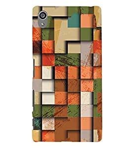 PrintVisa Designer Back Case Cover for Sony Xperia Z5 Premium :: Sony Xperia Z5 4K Premium Dual (Multicolor Design :: Square pattern design :: Stylish Design :: latest Designer wallpaper :: 3D Designer wallpaper)