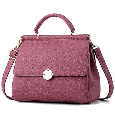 Damenmode Rüschen PU Leder Messenger Umhängetaschen Handtaschen/Klt Drak Red