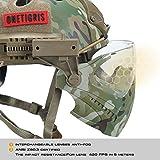 OneTigris Taktische Helm mit Maske und Schutzbrille für Softair(MC) - 4