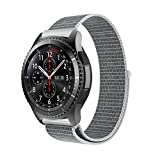 10principales Samsung Gear S3Bracelet de montre, Nylon Sangle de bracelet de rechange Bracelet pour Samsung Gear S3Frontier/classique Smart Watch M gris