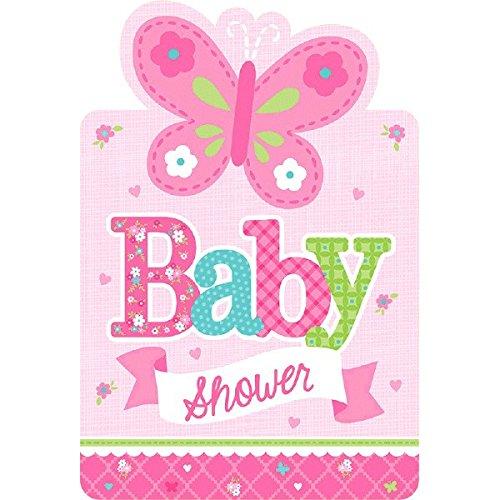 Amscan 491458Welcome Baby Girl Postkarte Einladungen Preisvergleich