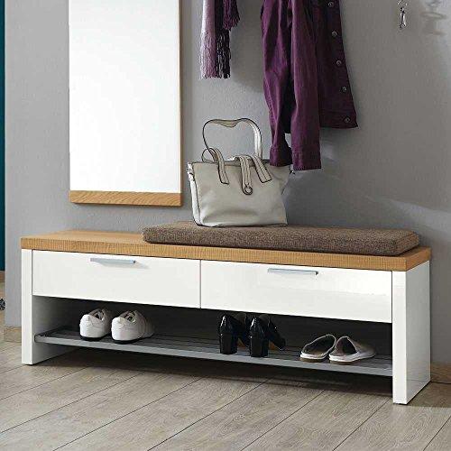Pharao24 Garderobenbank mit Schuhablage Garderobe