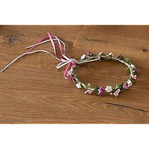 Blumen stirnband Haarkranz für kommunion oder hochzeit Durchmesser 20 cm