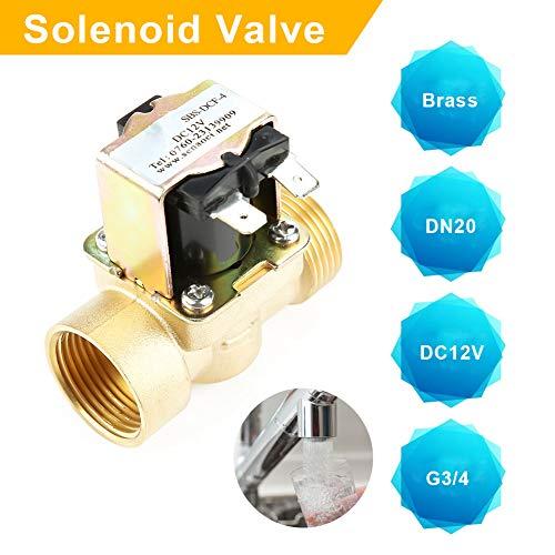 Anticorrosiva Normalmente Cerrada Electrovalvula para Ajuste de Agua Sin Consumo de Energ/ía 3//4 DC 24V V/álvula Solenoide de Lat/ón