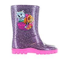 Paw Patrol Girls Glitter Effect Wellington Welly Boots