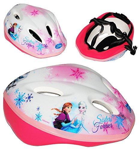 Kinderhelm - ' Die Eiskönigin - Disney FROZEN ' - Gr. 52 - 56 - circa 3 bis 15 Jahre - Größen verstellbarer / mitwachsender Helm - für Kinder Mädchen / Fahrradhelm...