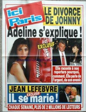AFFICHE DE PRESSE - LE DIVORCE DE JOHNNY...