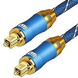 EMK câble audio numérique optique Fibre optique Toslink Câble audio SPDIF câble...