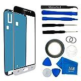 Kit de remplacement d'écran tactile pour Samsung Galaxy J3 SM J320F (2016) inclus: Vitre de rechange / Pincette / Ruban adhésif 2mm / Chiffon microfibre / Kit d'outillage spécifique / fil métallique MMOBIEL