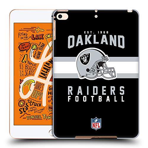 fizielle NFL Helm-Buchdruckerkunst 2018/19 Oakland Raiders Harte Rueckseiten Huelle kompatibel mit iPad Mini (2019) ()