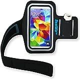 Bestwe Samsung Galaxy S5 mini Schwarz Neoprene Sports Jogging Armband Tasche Oberarmtasche Schutz Hülle Etui Case