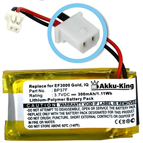 akku-king-battery-for-dogtra-ef3000-gold-iq-replaces-bp37f-li-polymer-300mah