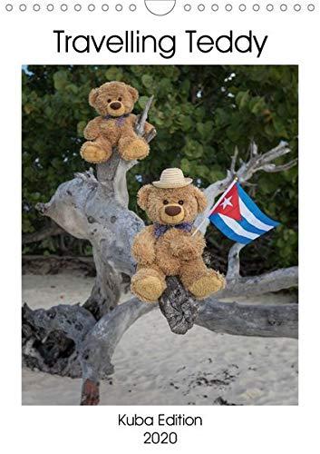 Travelling Teddy Kuba Edition 2020 (Wandkalender 2020 DIN A4 hoch): Tolle Bilder meines Teddy auf seinen Reisen durch Kuba (Monatskalender, 14 Seiten ) (CALVENDO Spass) (Bilder Von Teddybären)