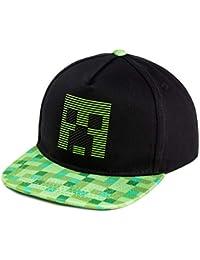 Minecraft Gorra Niño, Gorras para Niños con Diseño Creeper, Gorro Niño en Color Negro Talla Unica, Merchandising Oficial, Regalos para Niños y Adolescentes