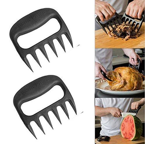 Bear Claws. Bärentatzen BBQ Pulled Pork Shredder. Fleisch Handler Gabeln / Messer. Set bestehend aus 2.
