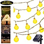 Solar String Lights Globe Strip Light Waterproof Warm White Light Decoration Lamp for Outdoor Garden Patio Home Yard...