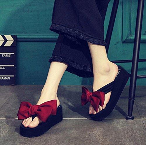 Fersen und Schuhe Schmetterling Knoten Flip Slipper Hausschuhe Damen Strand Schuhe 3