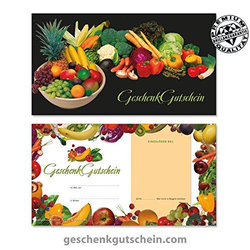 """50 Stk. Gutscheinkarten """"Standard"""" für Obst- und Gemüsehändler OG1230, LIEFERZEIT 2 bis 4 Werktage !"""