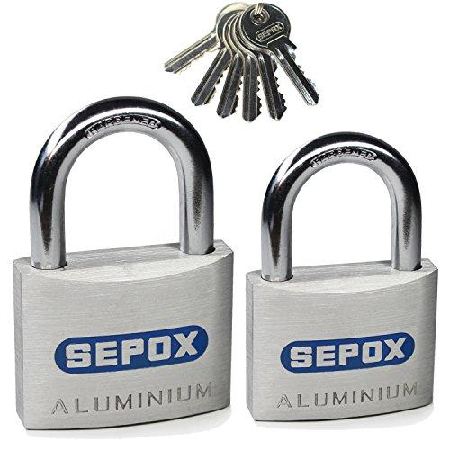 sepox Aluminium Legierung gleichschliessend Vorhängeschloss mit 6Schlüssel