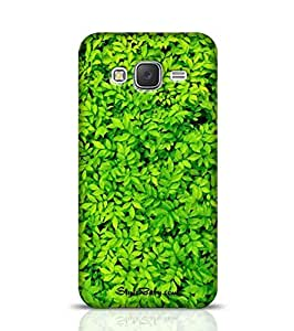 Case Printed for Samsung J7 Tiny Green Leaves -Samsung Multicolor