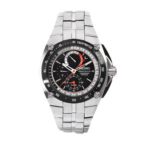 e53057fb14e78 Seiko Reloj Analógico para Hombre de Cuarzo con Correa en Acero Inoxidable  BEB046