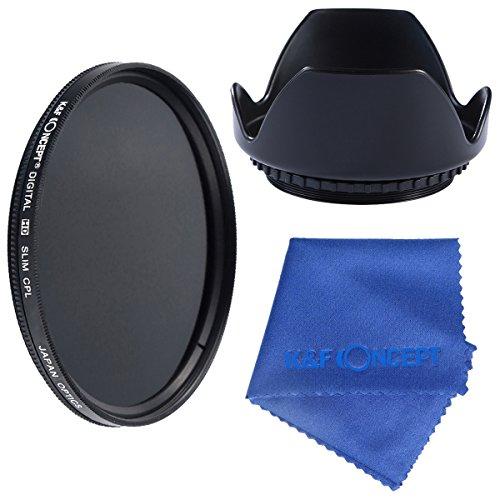 K&F 3 teiliges 52mm Slim Objektiv Filter Set CPL Filter Kamera Filter Zubehör 52mm Gegenlichtblende für Nikon D5300 D5200 D5100 D3200 D3100 DSLR Kamera + Reinigungstuch für Objektive