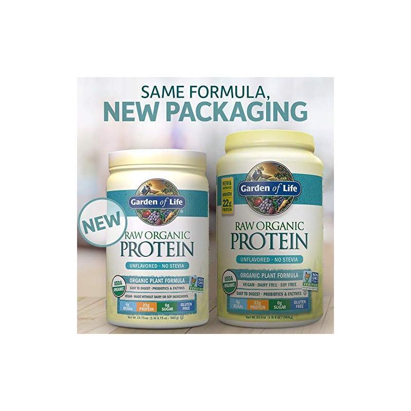 Garden of Life Raw Organic Protein Powder, Unflavoured