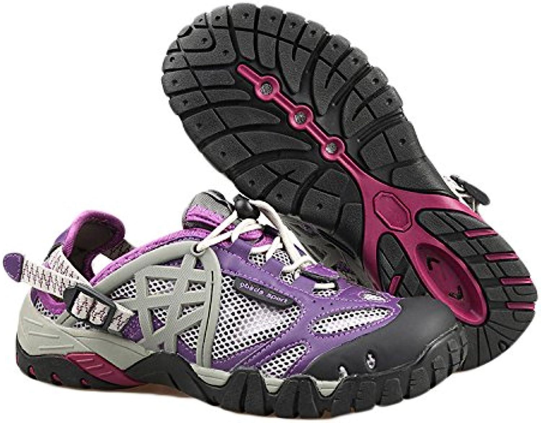 Zapatos De Senderismo Hombre Impermeable Cuero Ligero Verano Anfibio Secado Rápido Transpirable Antideslizante  -
