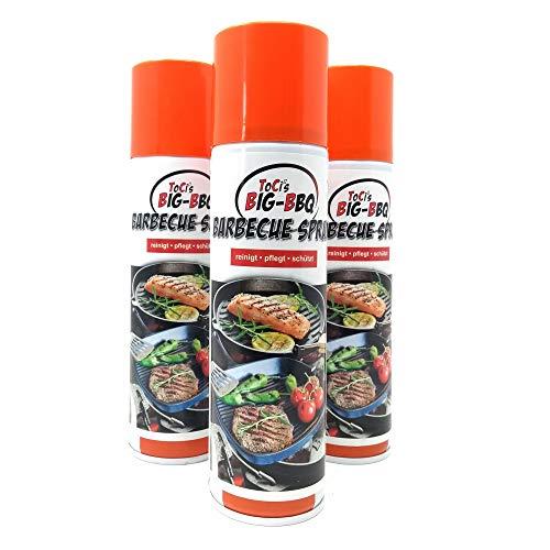 ToCis Big-BBQ Barbecue Pflege-Spray für Grill und Gußeisen 200 ml Dose Trennspray Trennfett Grillspray Backtrennmittel (3er Pack)