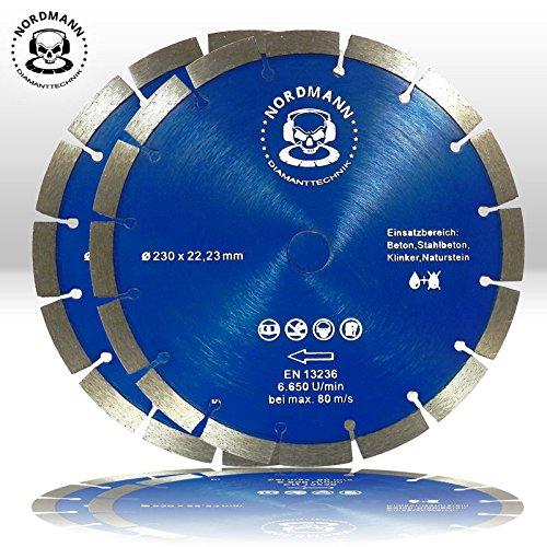 2-x-nordmann-power-disco-blocco-oe-230-mm-i-universale-per-granito-calcestruzzo-cemento-armato-arena