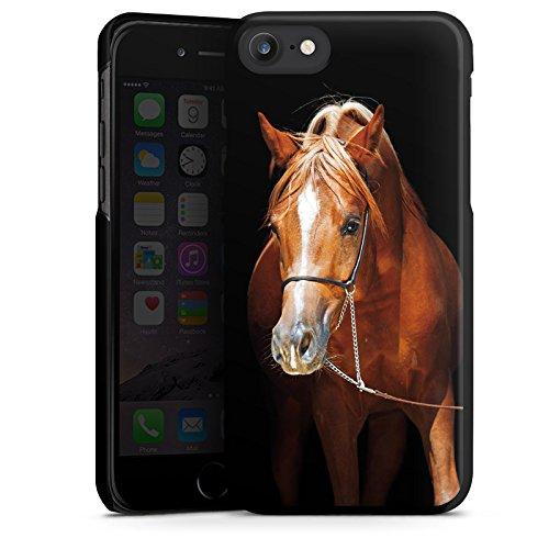 Apple iPhone X Silikon Hülle Case Schutzhülle Pferd Horse Stute Hengst Hard Case schwarz