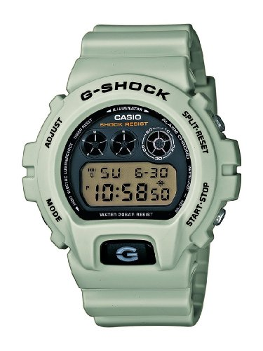 fb855ad0074 CASIO G-SHOCK Men s Quartz Watch with Black Dial Digital Display and Beige  Resin Strap