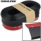 #2: AUTO GEAR SAMURAI Black Look Car Body Kit Bumper Lip Side Skirt Rubber Edge Car Spoiler
