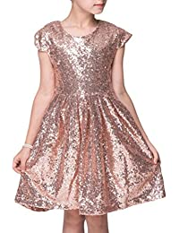 87edb9ce4db9 Amazon.co.uk  Gold - Dresses   Girls  Clothing