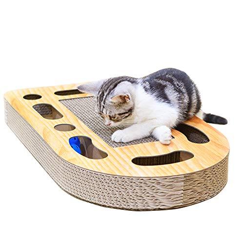 Katzen Kratzspielzeug, Katzenspielzeug Kratzmöbel Holzbrett ,Kratzbaum Kratzbretter Kratzbrett aus Wellpappe Handgefertigt, Ideal Beschäftigung Toys für Haustier Pet,Multifunktionales Spielzeug für Haustiere