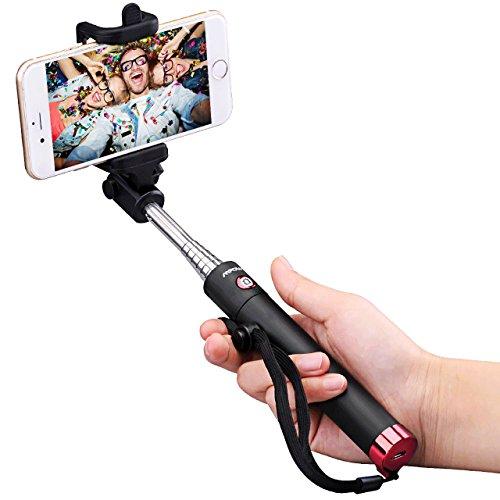 Mpow Selfie Stick, iSnap X U-Form Selfie Stange selfiestick fuer alle handys, Erweiterbar Selfie Stick mit Bluetooth Fernauslöser für IphoneX/8P/8/7P/7/6S/6/5S/IPHONE SE,Huawei Honor 8/9,Huawei P8/P10,Samsung S6/S7/S8/Galaxy A7,NUBIA Z11,OPPO R9,Redmi 4,Huawei HTC M9 M8, MP3 Players usw