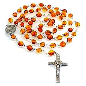 Ambermilana Baltischer Bernstein Rosenkranz Gebetskette Handarbeit