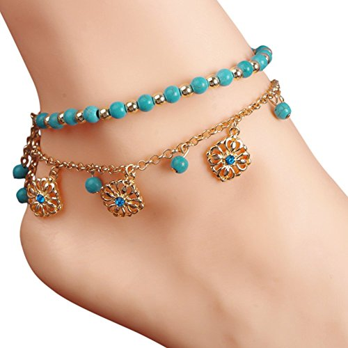 eleery-women-bohemian-beach-turquoise-barefoot-sandal-foot-jewelry-anklet-chain-free-size-turquoise