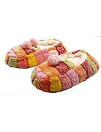 PICCOLI MONELLI Pantofole Peluche Bambina Invernali ccalde Invernali Chiuse  Dietro Basse tg 28-31 cm 27b83c3c530