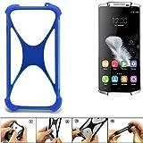 K-S-Trade Handyhülle für Oukitel K10000 Silikon Schutz Hülle Cover Case Bumper Silikoncase TPU Softcase Schutzhülle Smartphone Stoßschutz, blau (1x)