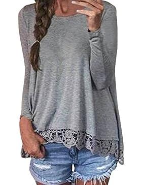 arrowhunt - Camisas - Túnica - Cuello redondo - Manga Larga - para mujer