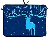 DIGITTRADE LS115-15 Elan Bleu Designer Notebook Sleeve Housse Pour Ordinateur Portable 15,4' jusqu'à 15,6' (39,1 - 39,6 cm) Large Néoprène Pochette Sacoche
