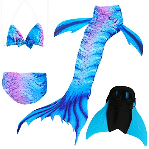 Das beste Mädchen Bikini Badeanzüge Schönere Meerjungfrauenschwanz zum Schwimmen mit Meerjungfrau Flosse Schwimmen Kostüm Schwanzflosse - EIN Mädchentraum (Olympia Party Kostüm)