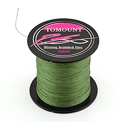 TOMOUNT Strong Spool Braid Braided Fishing Fish Line 300M 20lb 0.18mm by smartvision